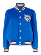 Bomber Jacket With Badge Detail