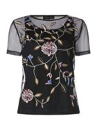 Label Lab Floral mesh embroidered top