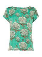 Lollys Laundry Green short sleeve top with shell