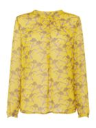 Lollys Laundry Yellow long sleeve floral blouse