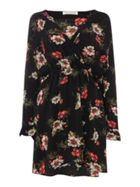 Sofie Schnoor Long sleeve wrap dress with floral