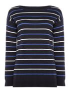 Barbour Marloes Long Sleeve Crew Neck Striped Jumper