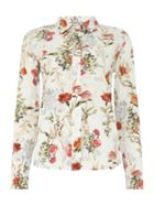 Marella Cherry floral long sleeve shirt