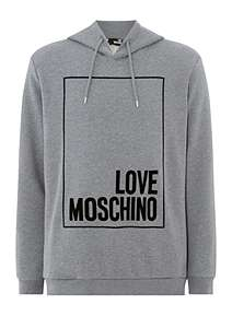 ee5a07d234 Love Moschino Overhead Big Square Logo Sweat ...