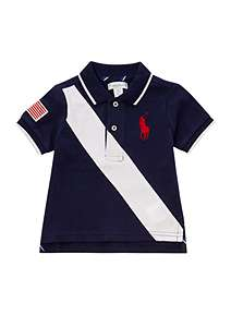 Polo Ralph Lauren Baby Boy Large Pony Banner Stripe