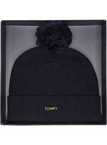 Tommy Hilfiger Swap your pom pom beanie gift set ... 4be5b68eeed
