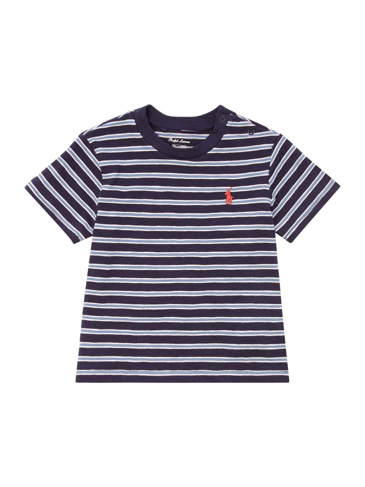 Polo Ralph Lauren Small Polo Print Fine Stripe Tee ...