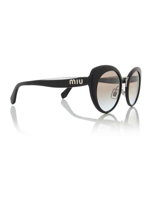 d03e72cf3b Miu Miu Black Mu 06ts Butterfly Sunglasses. 294886505. £222.00. Previous.  selectedColor. selectedColor