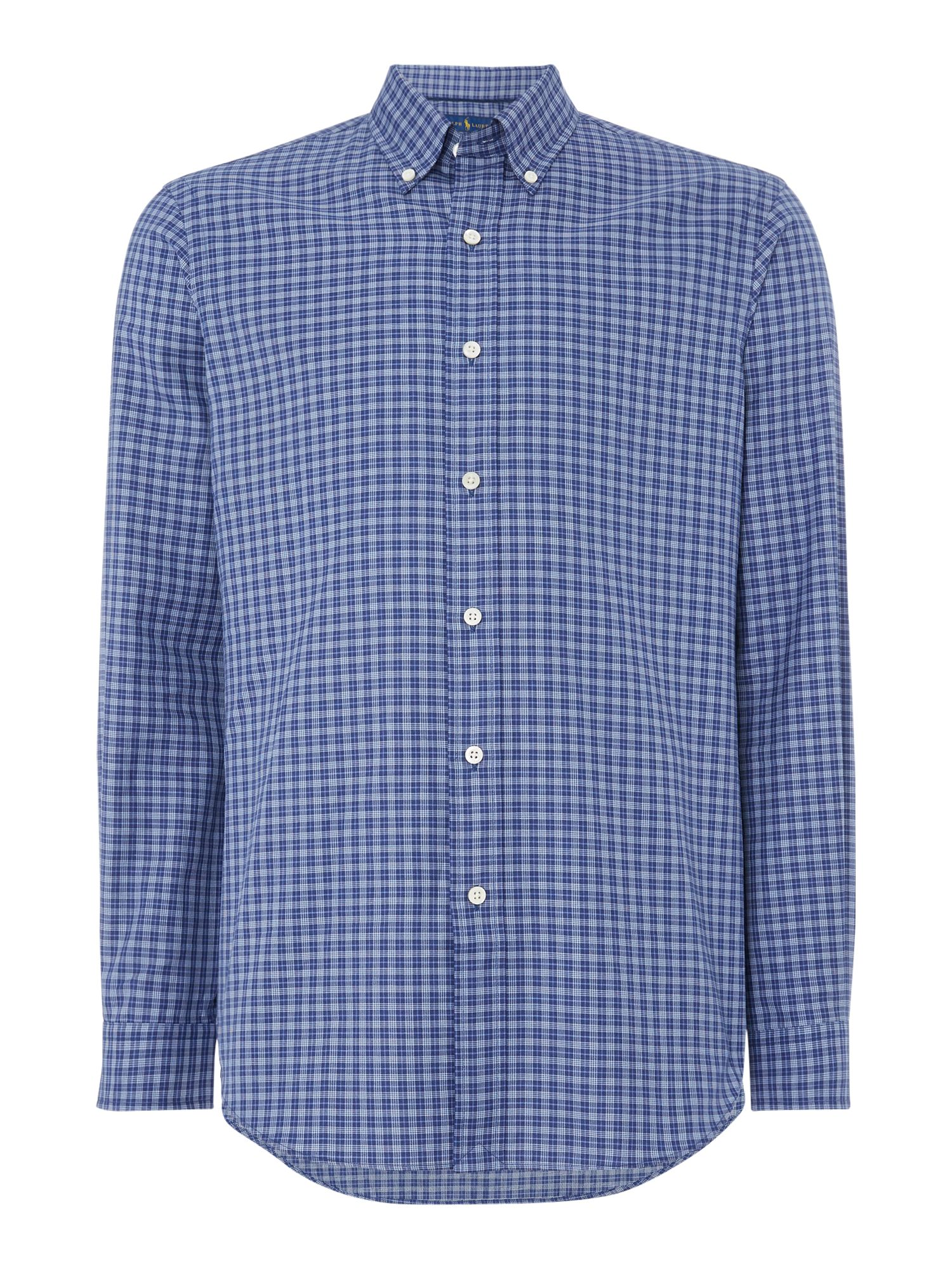 Polo Ralph Lauren Custom Fit Twill Checked Shirt ...