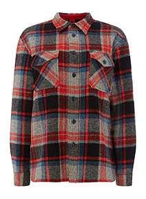 ae46f50a580 Polo Ralph Lauren Checked Shacket ...