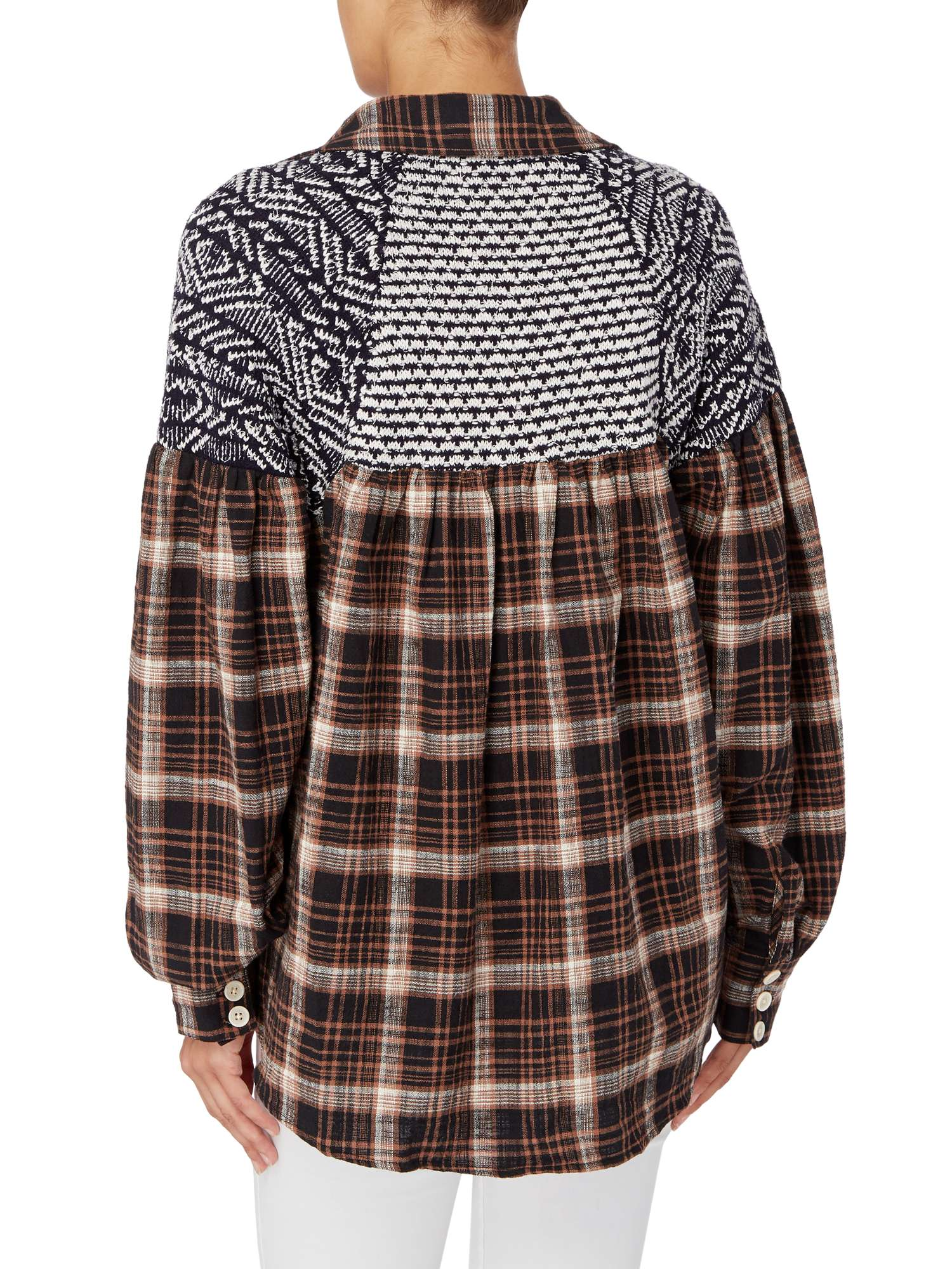 Free People Nights Buttondown Shirt Checked Fireside rrqAwxg