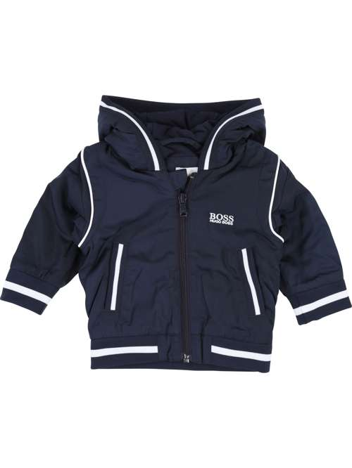 Hugo Boss Baby Boys Bomber With Hood - House of Fraser 6a9e6d3e5