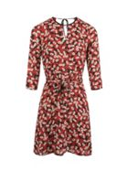 Floral Print Dress With Cut-outs