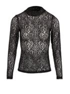 Lace Top With Animal Print