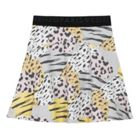 Kenzo Girls Animal Print Skater Skirt