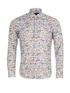 Men's Eden Park Long Sleeved Floral Cotton Shirt