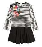 Catimini Girls Graphic Stripe Dress