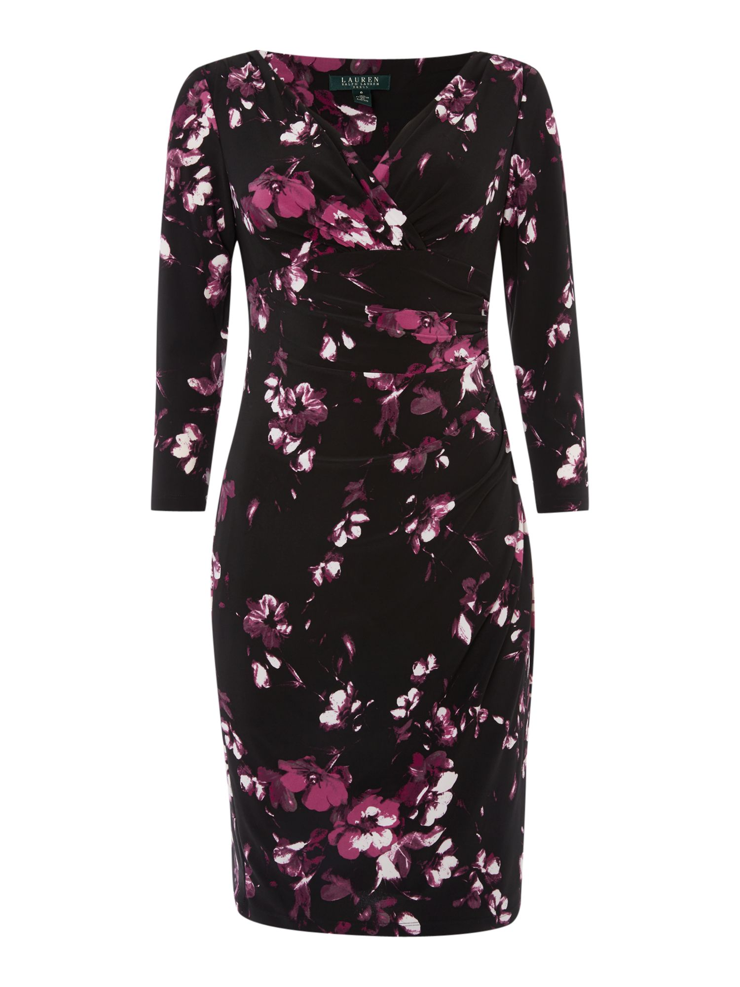 Lauren Ralph Lauren Floral print 3/4 sleeve dress ...