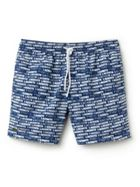 Men's Lacoste Flowing Print Taffeta Swimming Trunks