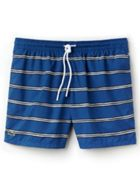 Men's Lacoste Striped Canvas Swimming Trunks