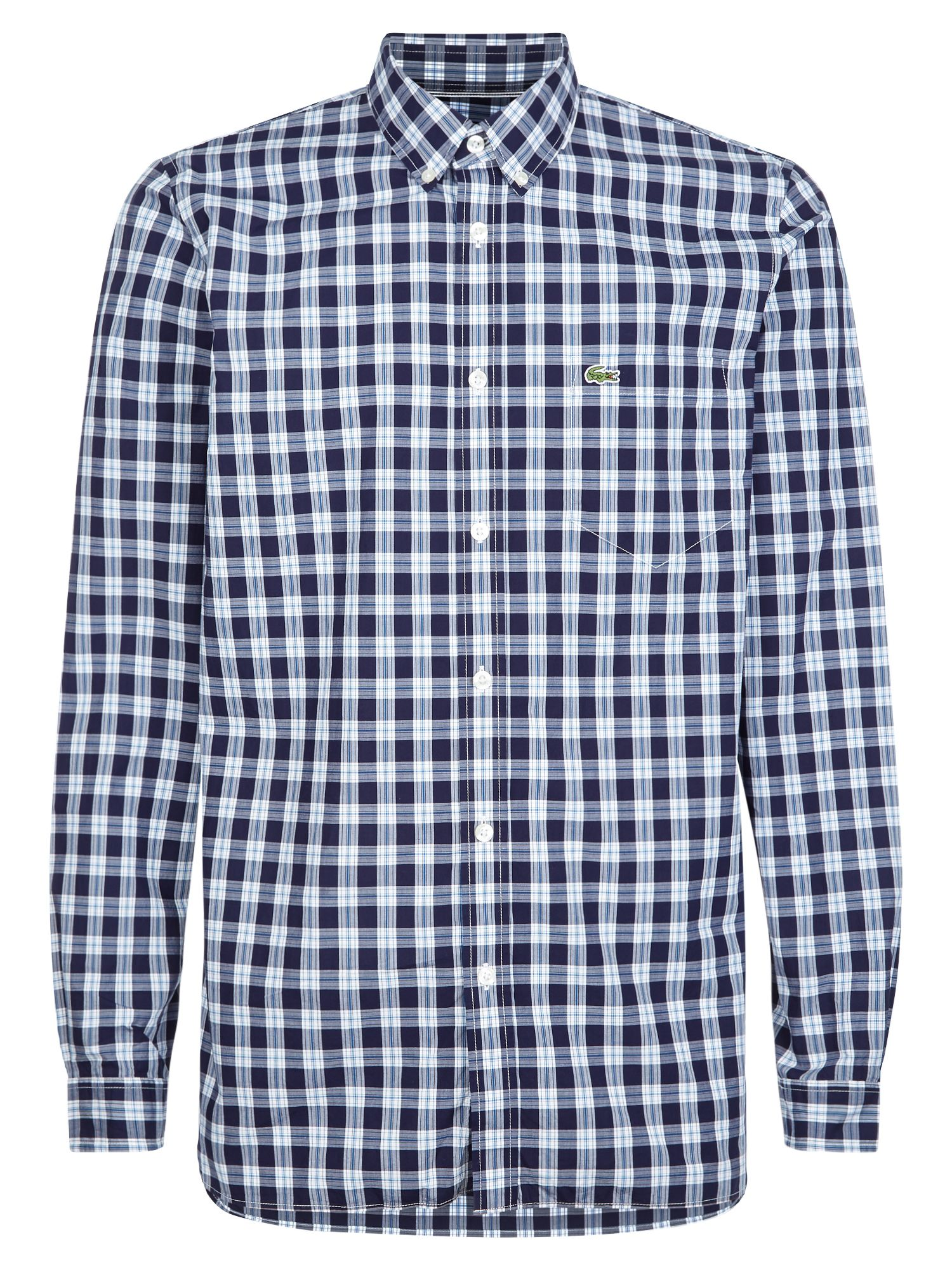 Long Sleeved Casual Woven Shirt by Lacoste