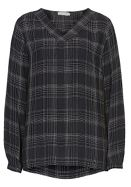 Betty Barclay V-neck check blouse