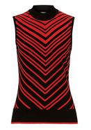 Betty Barclay Chevron knit sleeveless top