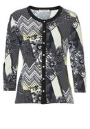 Betty Barclay Floral and lattice print cardigan