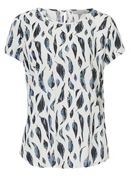 Betty & Co. Leaf print blouse
