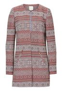 Betty & Co. Striped tapestry coat