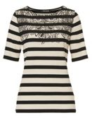 Betty Barclay Print and stripe T-shirt