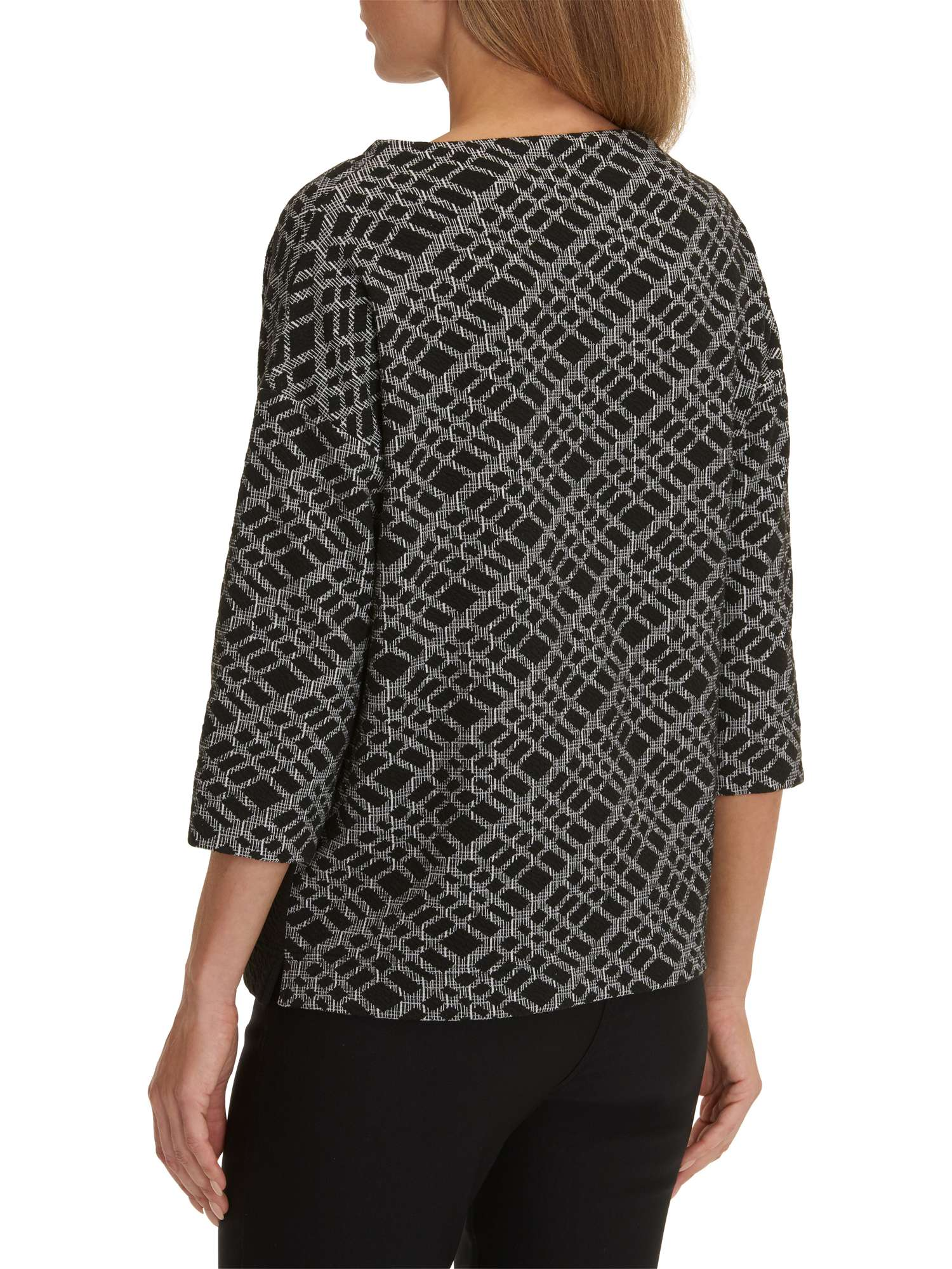 Barclay Betty Textured Top Graphic Tunic Tw1q8PS