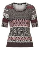 Betty Barclay Graphic and animal print top