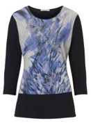 Betty Barclay Embellished Floral Print Top