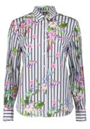 Betty Barclay Floral And Stripe Print Shirt