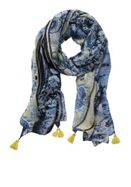 Betty Barclay Long Paisley Stripe Print Scarf