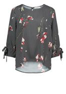 Betty & Co. Floral And Stripe Print Blouse