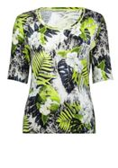 Betty Barclay Fine Ribbed Floral Print Top