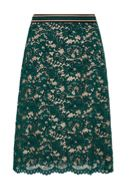 Hallhuber Lace skirt with contrast lining