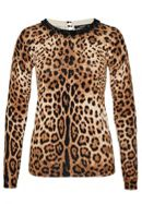 Leopard Print Jumper With Bead Neckline