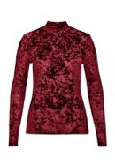 Devor Velvet Stand Collar Long Sleeve