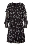 Hallhuber Ruffle Dress With Panicles Print