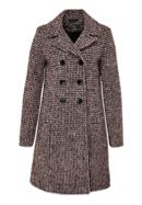 Wool Coat With Mini Check Pattern