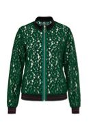 Hallhuber Lace blouson with Lurex cuffs