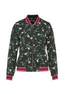 Hallhuber Floral print blouson with metal zipper