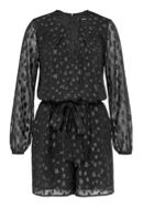 Hallhuber Playsuit Made of Star Lurex Jacquard