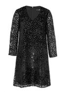 Hallhuber Jacquard Dress With Velvet Polka Dots