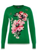 Hallhuber Inlay Jumper With Bee Embroidery