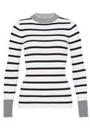 Hallhuber Stripe Jumper With Stand Collar