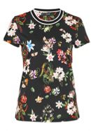 Hallhuber Floral Print Top With Lurex Neckline
